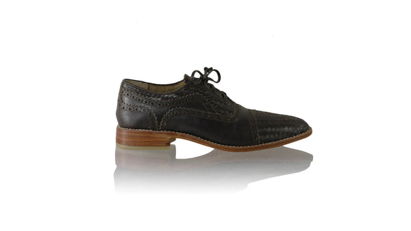 Leather-shoes-Nicola 25mm Flat - Dark Brown-flats laceup-NILUH DJELANTIK-NILUH DJELANTIK