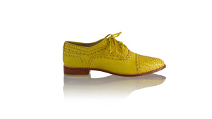 Leather-shoes-Nicola 25mm Flats - Yellow-flats laceup-NILUH DJELANTIK-NILUH DJELANTIK