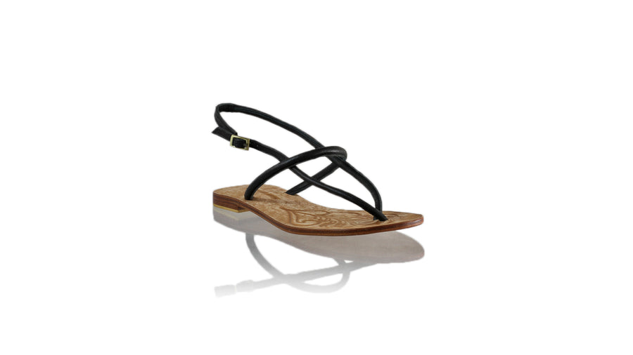 Leather-shoes-Nina 20mm Flat - Black-sandals flat-NILUH DJELANTIK-NILUH DJELANTIK