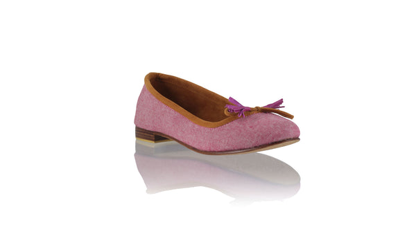 Leather-shoes-Noemi 20mm Ballet - Pink Lavender Linen-flats ballet-NILUH DJELANTIK-NILUH DJELANTIK