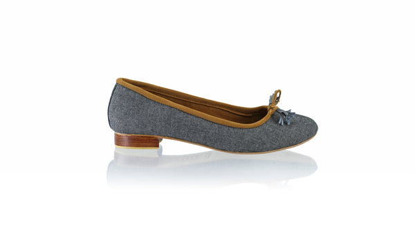 Leather-shoes-Noemi 20mm Ballet - Black Sandstone Denim-flats ballet-NILUH DJELANTIK-NILUH DJELANTIK