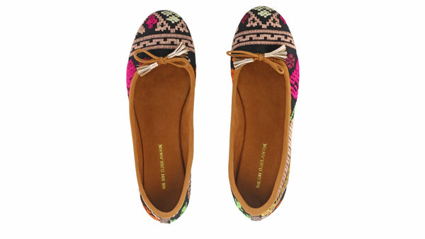 Leather-shoes-Noemi 20mm Ballet - Black Songket-flats ballet-NILUH DJELANTIK-NILUH DJELANTIK