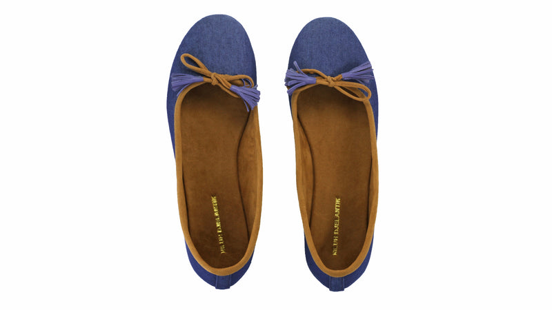 Leather-shoes-Noemi 20mm Ballet -Blue Denim-flats ballet-NILUH DJELANTIK-NILUH DJELANTIK