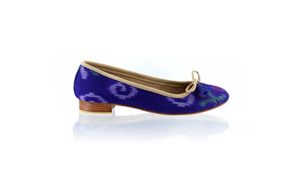 Leather-shoes-Noemi 20mm Ballet - Blue Endek-flats ballet-NILUH DJELANTIK-NILUH DJELANTIK