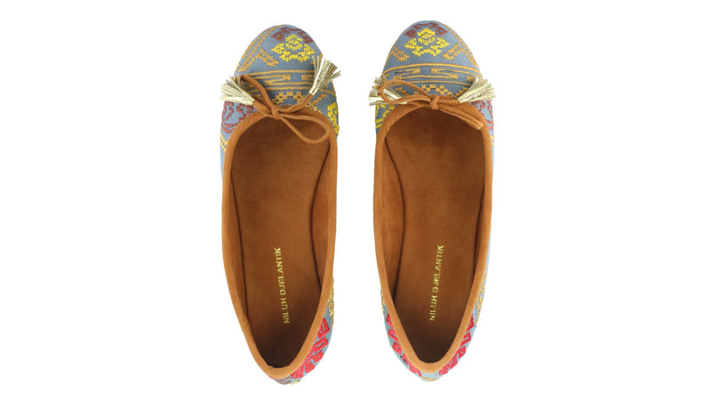 Leather-shoes-Noemi 20mm Ballet - Grey Songket-flats ballet-NILUH DJELANTIK-NILUH DJELANTIK