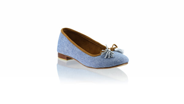 Leather-shoes-Noemi 20mm Ballet - Light Blue Denim-flats ballet-NILUH DJELANTIK-NILUH DJELANTIK