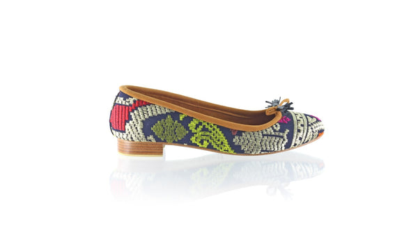 Leather-shoes-Noemi 20mm Ballet - Navy Songket-flats ballet-NILUH DJELANTIK-NILUH DJELANTIK
