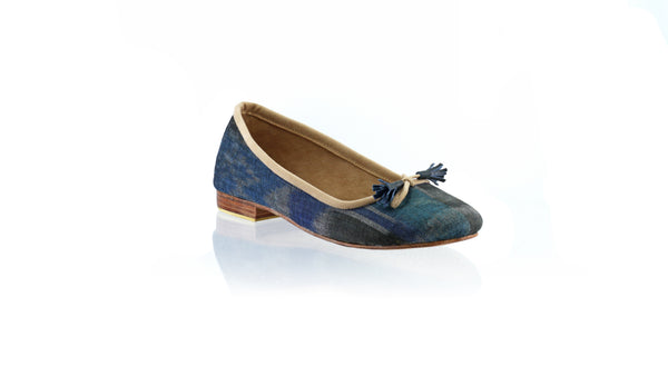 Leather-shoes-Noemi 20mm Ballet - Navy & Black Endek-flats ballet-NILUH DJELANTIK-NILUH DJELANTIK