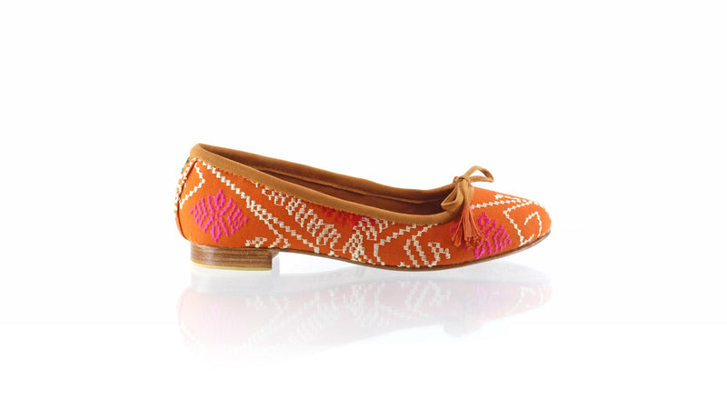 Leather-shoes-Noemi 20mm Ballet - Orange Songket-flats ballet-NILUH DJELANTIK-NILUH DJELANTIK