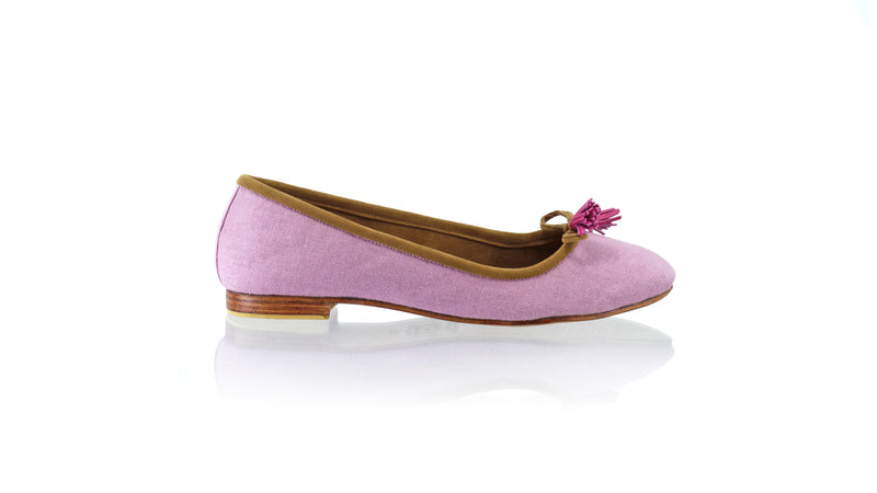 Leather-shoes-Noemi 20mm Ballet - Purple Linen-flats ballet-NILUH DJELANTIK-NILUH DJELANTIK