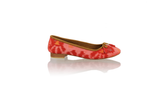 Leather-shoes-Noemi 20mm Ballet - Red Handwoven Ikat-flats ballet-NILUH DJELANTIK-NILUH DJELANTIK
