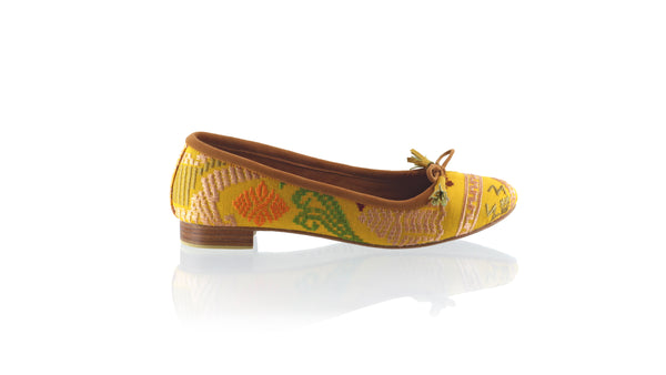 Leather-shoes-Noemi 20mm Ballet - Yellow Songket-flats ballet-NILUH DJELANTIK-NILUH DJELANTIK