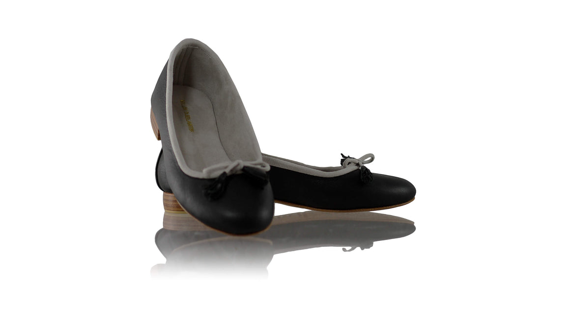 Leather-shoes-Noemi 20mm Ballet - Black Charcoal-flats ballet-NILUH DJELANTIK-NILUH DJELANTIK
