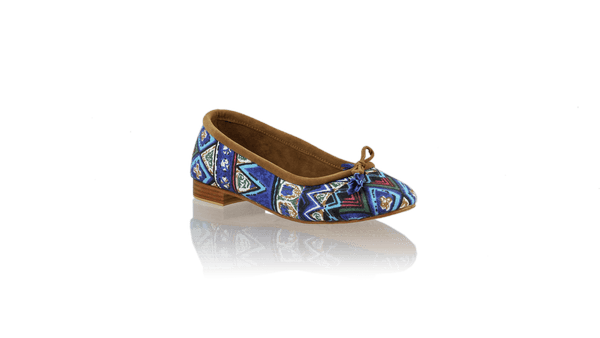 Leather-shoes-Noemi 20mm Ballet - Blue Triangle Motif-flats ballet-NILUH DJELANTIK-NILUH DJELANTIK