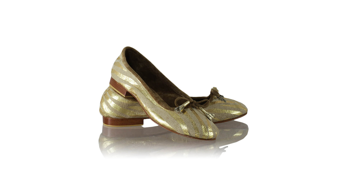 Leather-shoes-Noemi 20mm Ballet - Cream & Gold Zebra Print-flats ballet-NILUH DJELANTIK-NILUH DJELANTIK