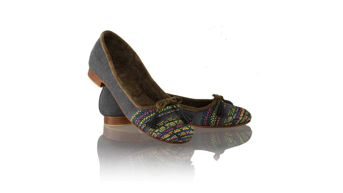 Leather-shoes-Noemi 20mm Ballet - Denim Multicolor-flats ballet-NILUH DJELANTIK-NILUH DJELANTIK