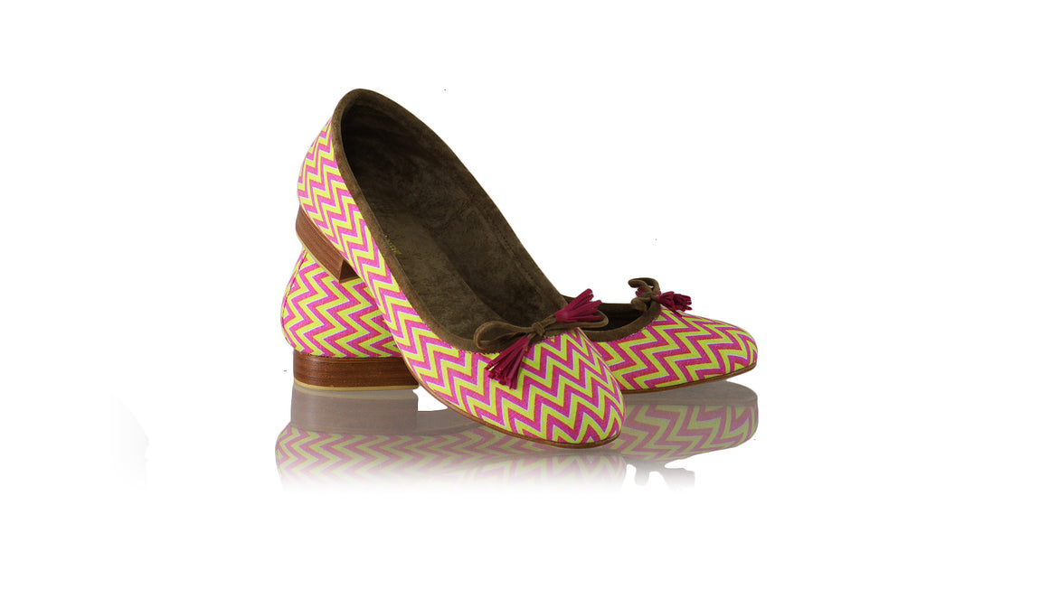 Leather-shoes-Noemi 20mm Ballet - Fuschia & Neon Yellow Canvas-flats ballet-NILUH DJELANTIK-NILUH DJELANTIK