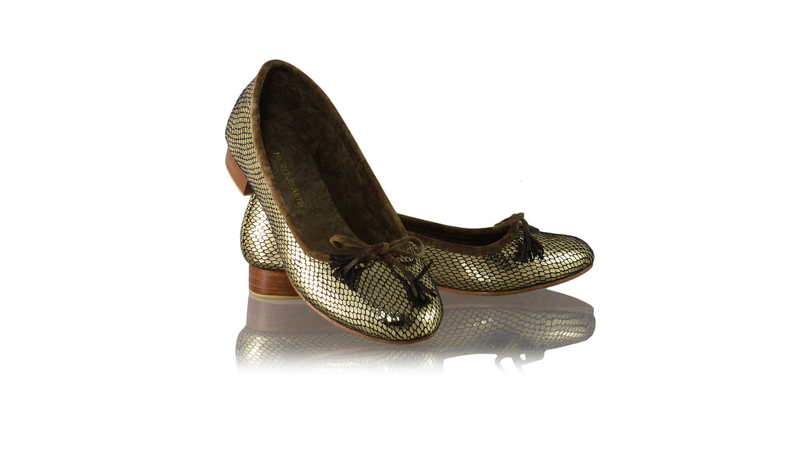 Leather-shoes-Noemi 20mm Ballet - Gold Snake Faux Leather-flats ballet-NILUH DJELANTIK-NILUH DJELANTIK