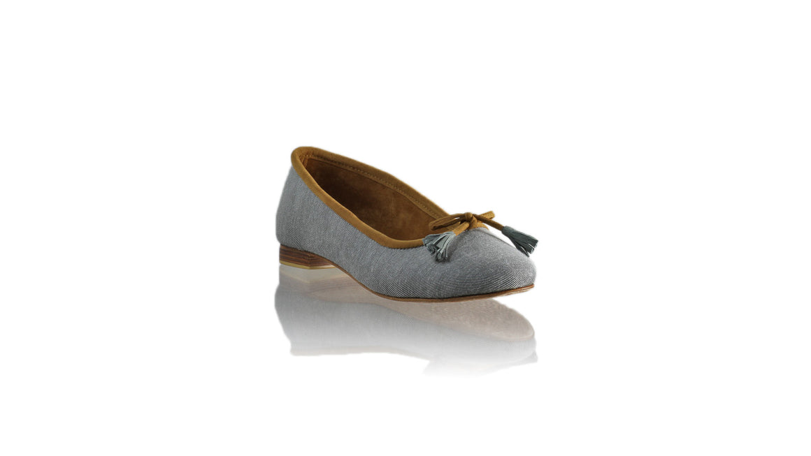 Leather-shoes-Noemi 20mm Ballet - Grey Denim-flats ballet-NILUH DJELANTIK-NILUH DJELANTIK