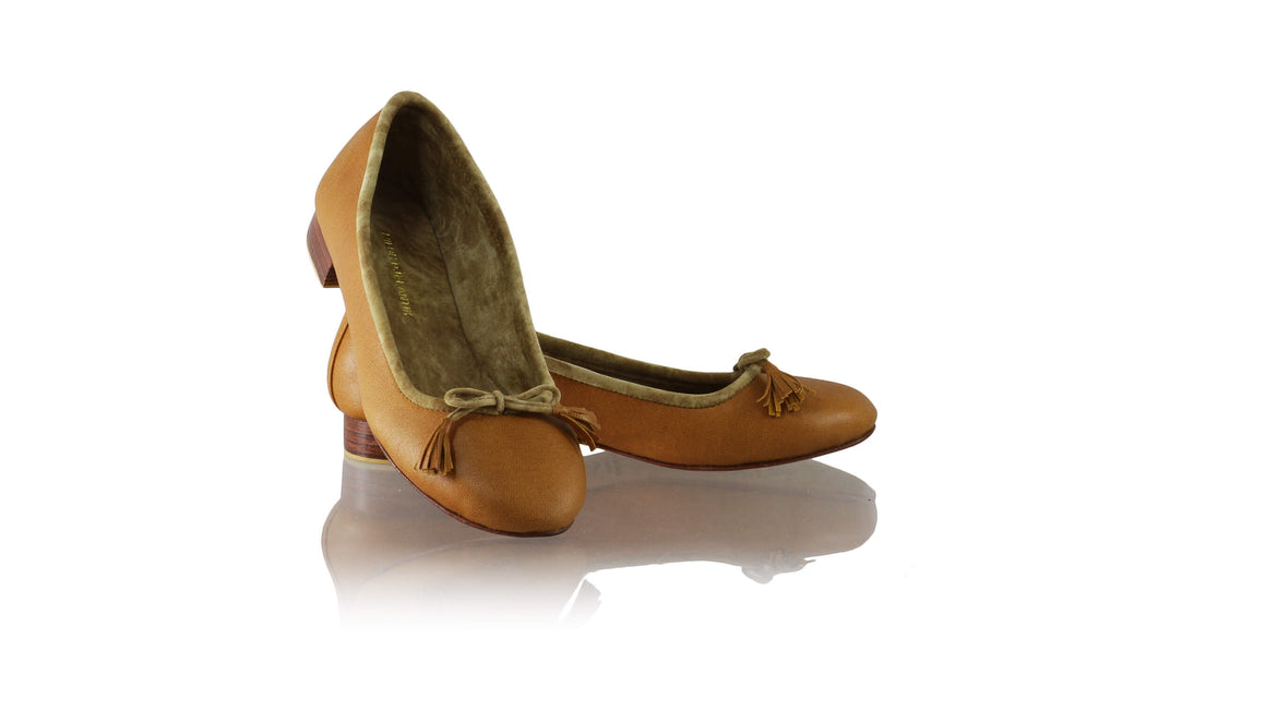 Leather-shoes-Noemi 20mm Ballet - Honey Brown-flats ballet-NILUH DJELANTIK-NILUH DJELANTIK