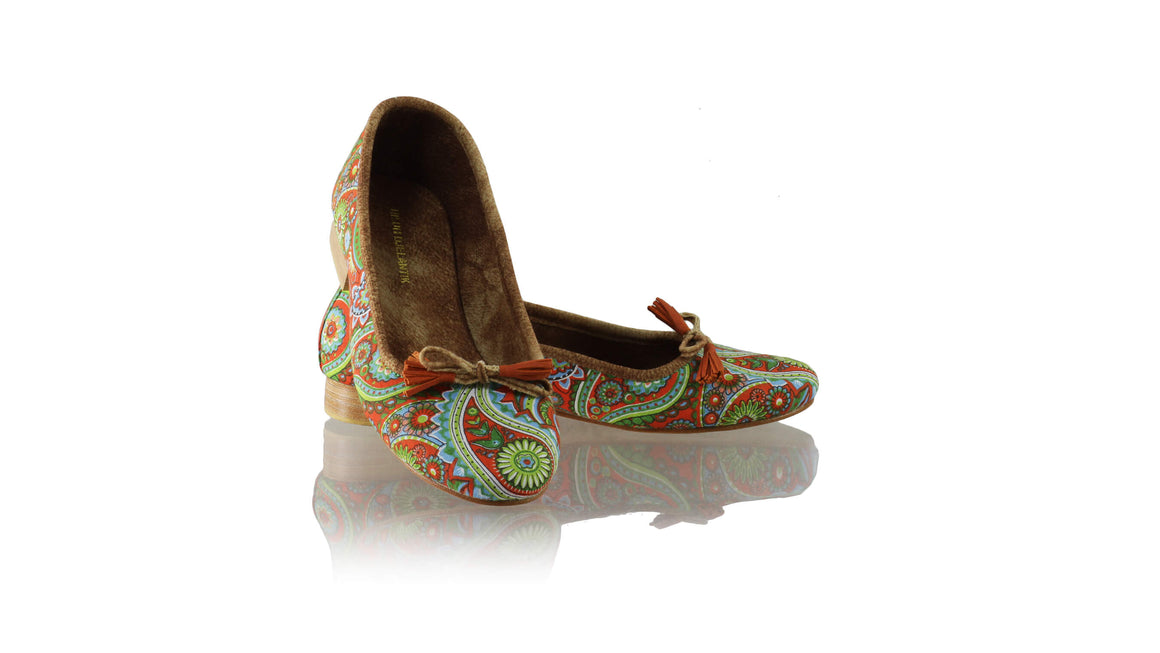 Leather-shoes-Noemi 20mm Ballet - Orange Paisley-flats ballet-NILUH DJELANTIK-NILUH DJELANTIK