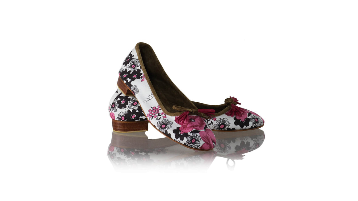 Leather-shoes-Noemi 20mm Ballet - Pink Flower Canvas-Shoes-NILUH DJELANTIK-NILUH DJELANTIK
