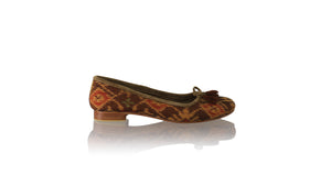 Leather-shoes-Noemi 20mm Ballet - Orange Handwoven Ikat-flats ballet-NILUH DJELANTIK-NILUH DJELANTIK