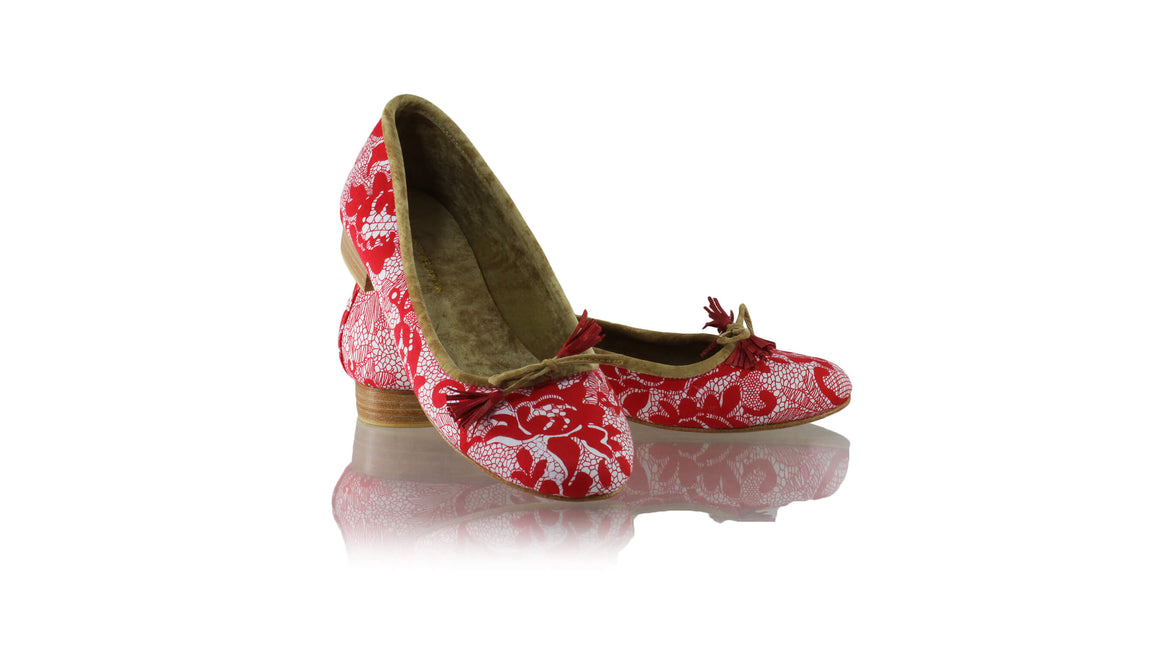 Leather-shoes-Noemi 20mm Ballet - Red Lace-flats ballet-NILUH DJELANTIK-NILUH DJELANTIK