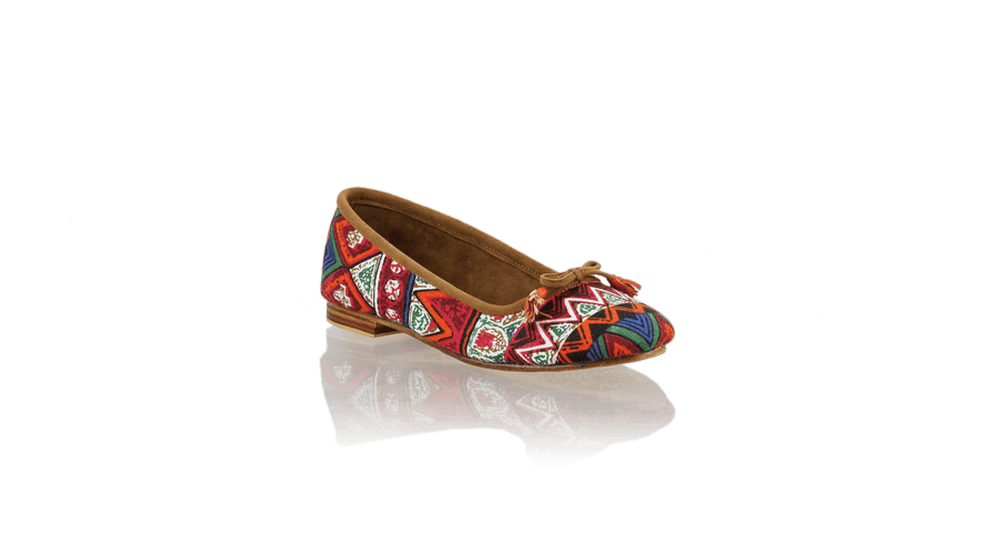 Leather-shoes-Noemi 20mm Ballet - Red Triangle Motif-flats ballet-NILUH DJELANTIK-NILUH DJELANTIK