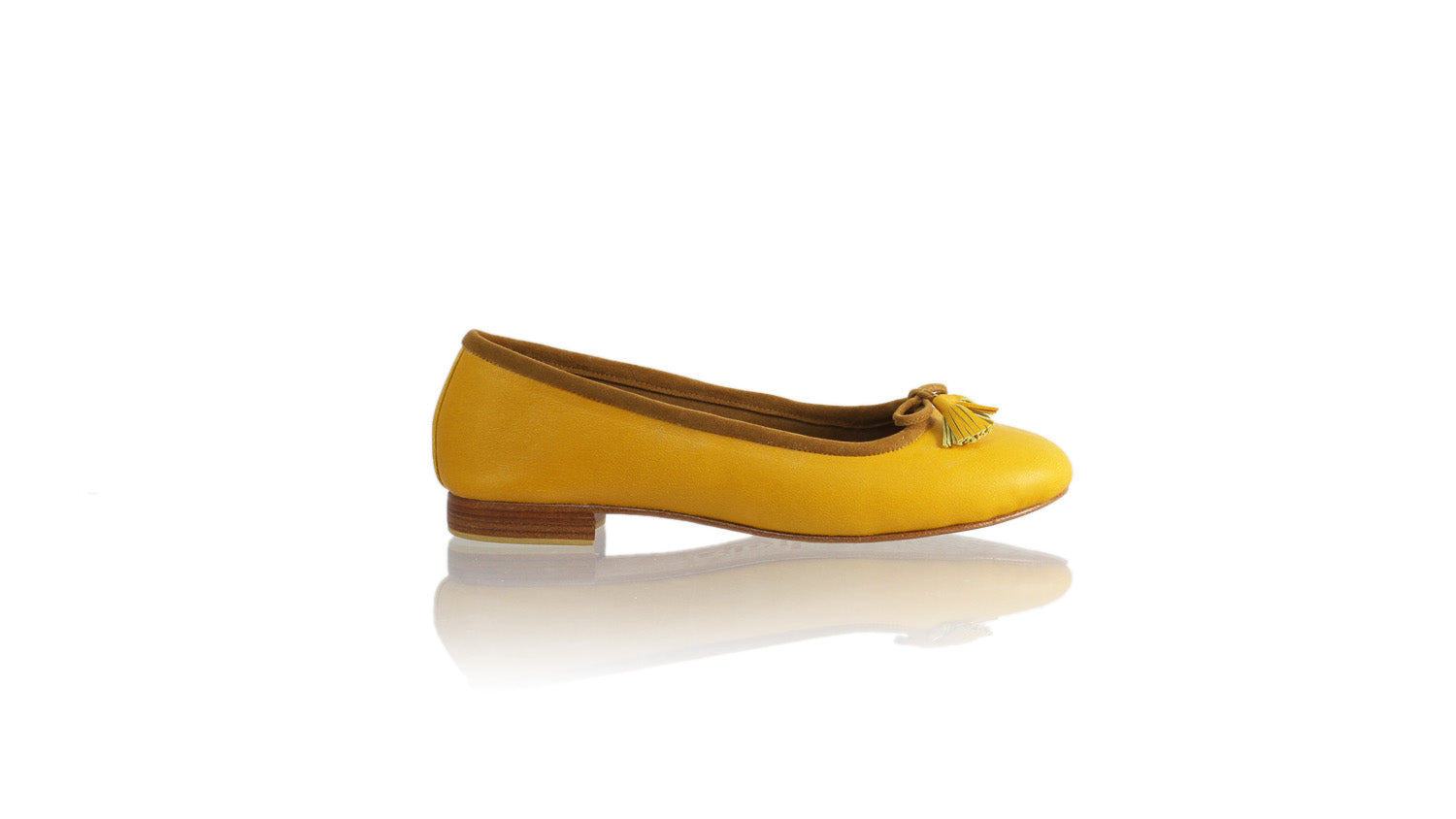 Leather-shoes-Noemi 20mm Ballet - Yellow-flats ballet-NILUH DJELANTIK-NILUH DJELANTIK
