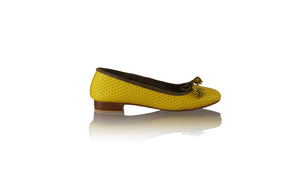 Leather-shoes-Noemi 20mm Ballet - Yellow Net-flats ballet-NILUH DJELANTIK-NILUH DJELANTIK