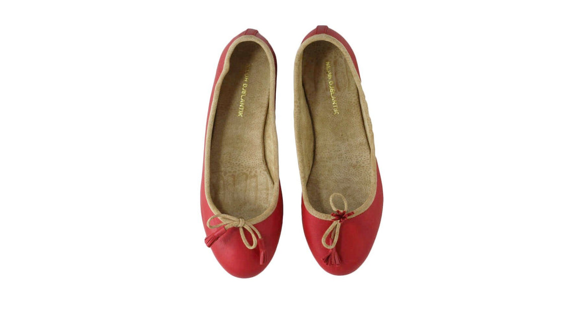 Leather-shoes-Noemi 20mm Flats - Vintage Red-flats ballet-NILUH DJELANTIK-NILUH DJELANTIK
