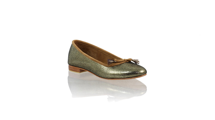 Leather-shoes-Noemi 20mm ballet - Bronze Cracking Faux Leather-flats ballet-NILUH DJELANTIK-NILUH DJELANTIK