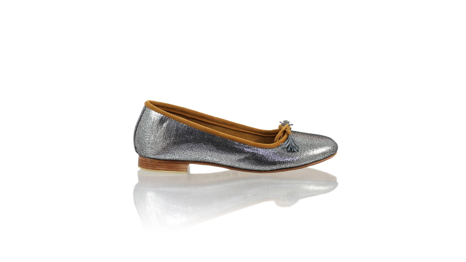 Leather-shoes-Noemi 20mm ballet - Silver Cracking Faux Leather-flats ballet-NILUH DJELANTIK-NILUH DJELANTIK