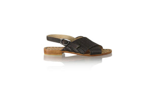 Leather-shoes-Oki 20mm Flats With Strap - Dark Brown-sandals flat-NILUH DJELANTIK-NILUH DJELANTIK