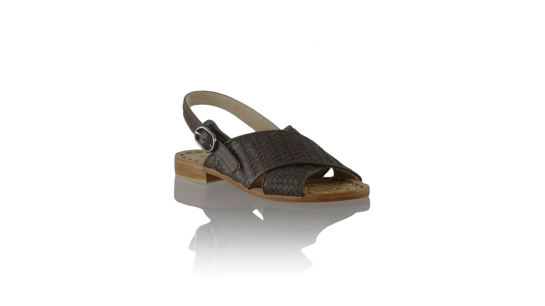 Leather-shoes-Oki 20mm Flat - Dark Brown-sandals flat-NILUH DJELANTIK-NILUH DJELANTIK