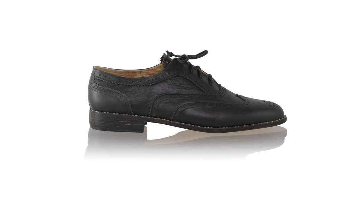 leather shoes Oxford 25mm flats - Black (MEN), flats laceup , NILUH DJELANTIK - 1