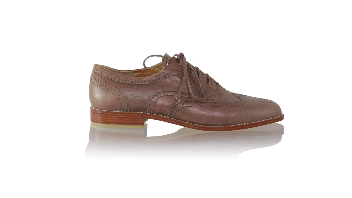 leather shoes Oxford 25mm flats - Brown (MEN), flats laceup , NILUH DJELANTIK - 1
