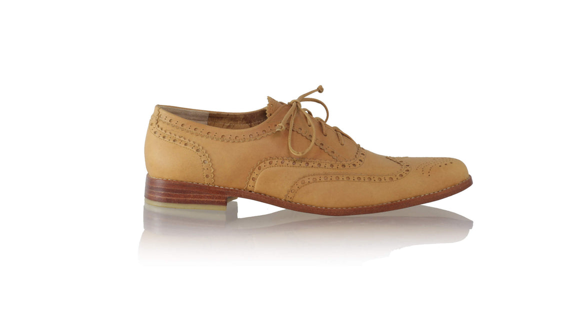 leather shoes Oxford 25mm flats - Camel (MEN), flats laceup , NILUH DJELANTIK - 1