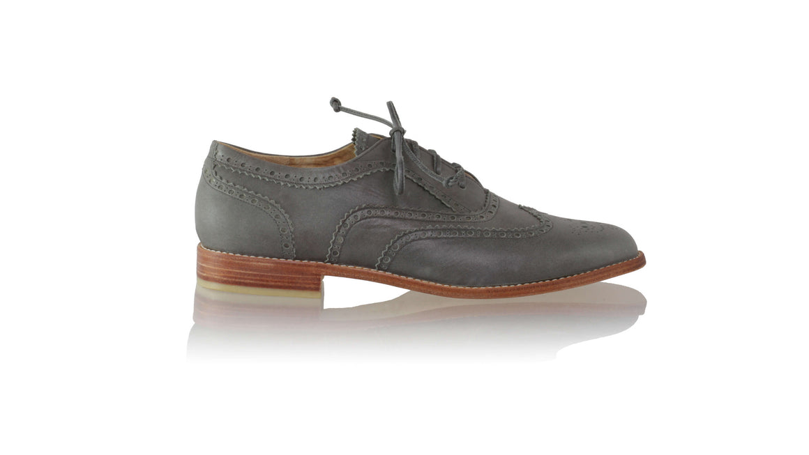 leather shoes Oxford 25mm flats - Grey (MEN), flats laceup , NILUH DJELANTIK - 1