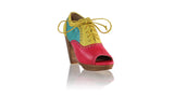 Leather-shoes-Oxford Peeptoe 110mm WH PF - Fuschia Yellow & Dark Aqua-pumps highheel-NILUH DJELANTIK-NILUH DJELANTIK