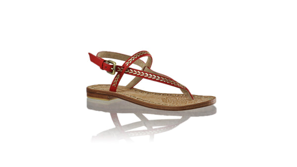 Leather-shoes-Papua 20mm Flat - Red & Gold-sandals flat-NILUH DJELANTIK-NILUH DJELANTIK
