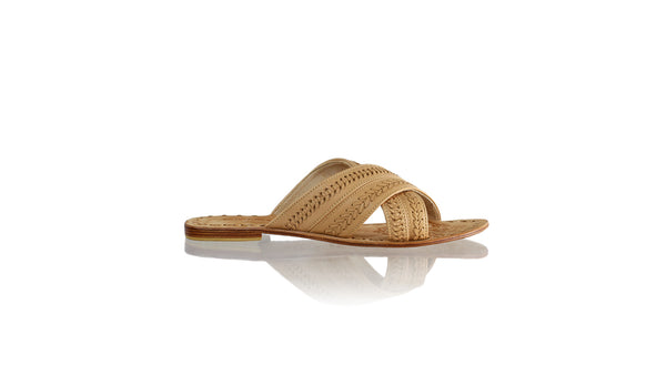 Leather-shoes-Paramita 20mm Flat - Nude Tanpa Sulam-sandals flat-NILUH DJELANTIK-NILUH DJELANTIK