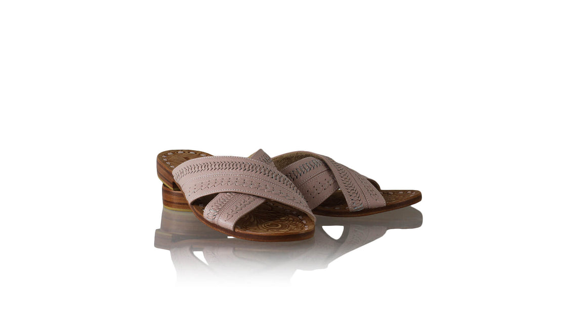 Leather-shoes-Paramita 20mm Flat - Blush Pink-sandals flat-NILUH DJELANTIK-NILUH DJELANTIK