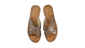 Leather-shoes-Paramita 20mm Flat - Bronze-sandals flat-NILUH DJELANTIK-NILUH DJELANTIK