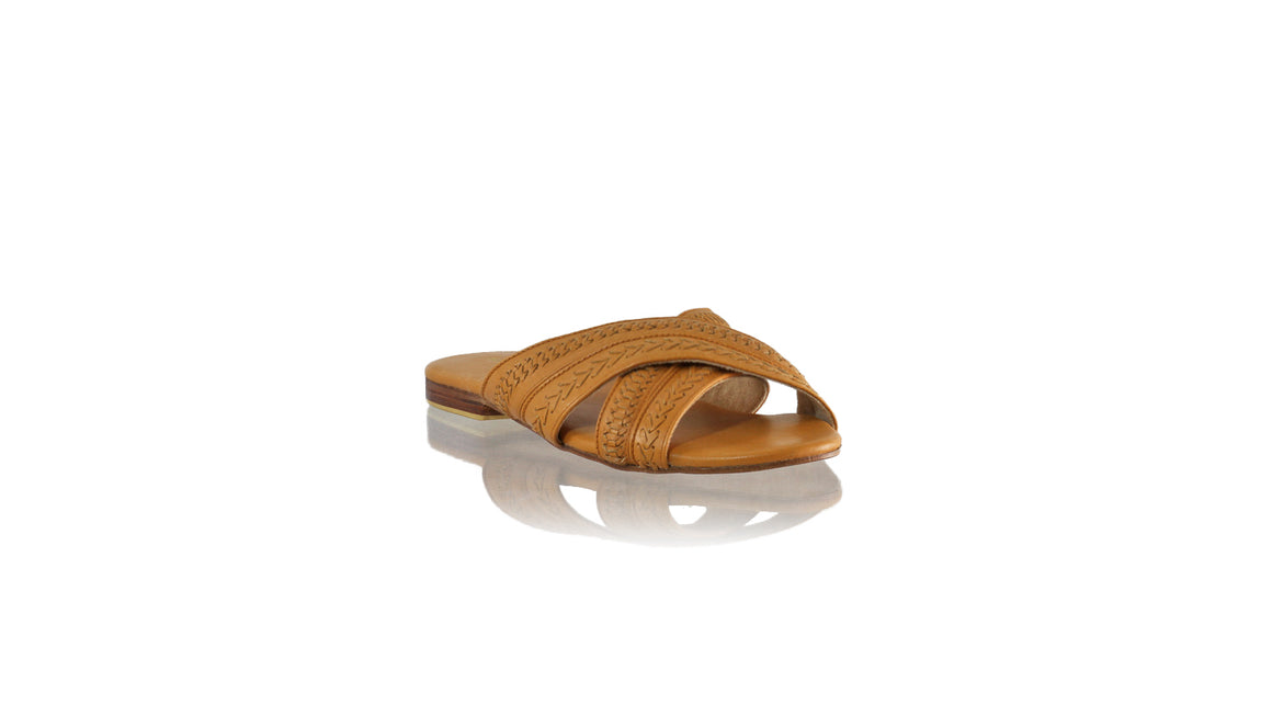 Leather-shoes-Paramita 20mm Flat - Camel-sandals flat-NILUH DJELANTIK-NILUH DJELANTIK