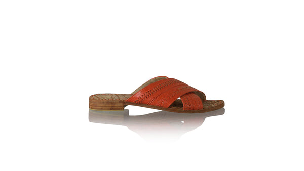 Leather-shoes-Paramita 20mm Flat - Deep Orange-sandals flat-NILUH DJELANTIK-NILUH DJELANTIK