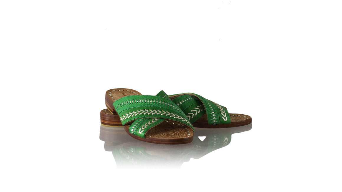 Leather-shoes-Paramita 20mm Flat - Green Gold-sandals flat-NILUH DJELANTIK-NILUH DJELANTIK