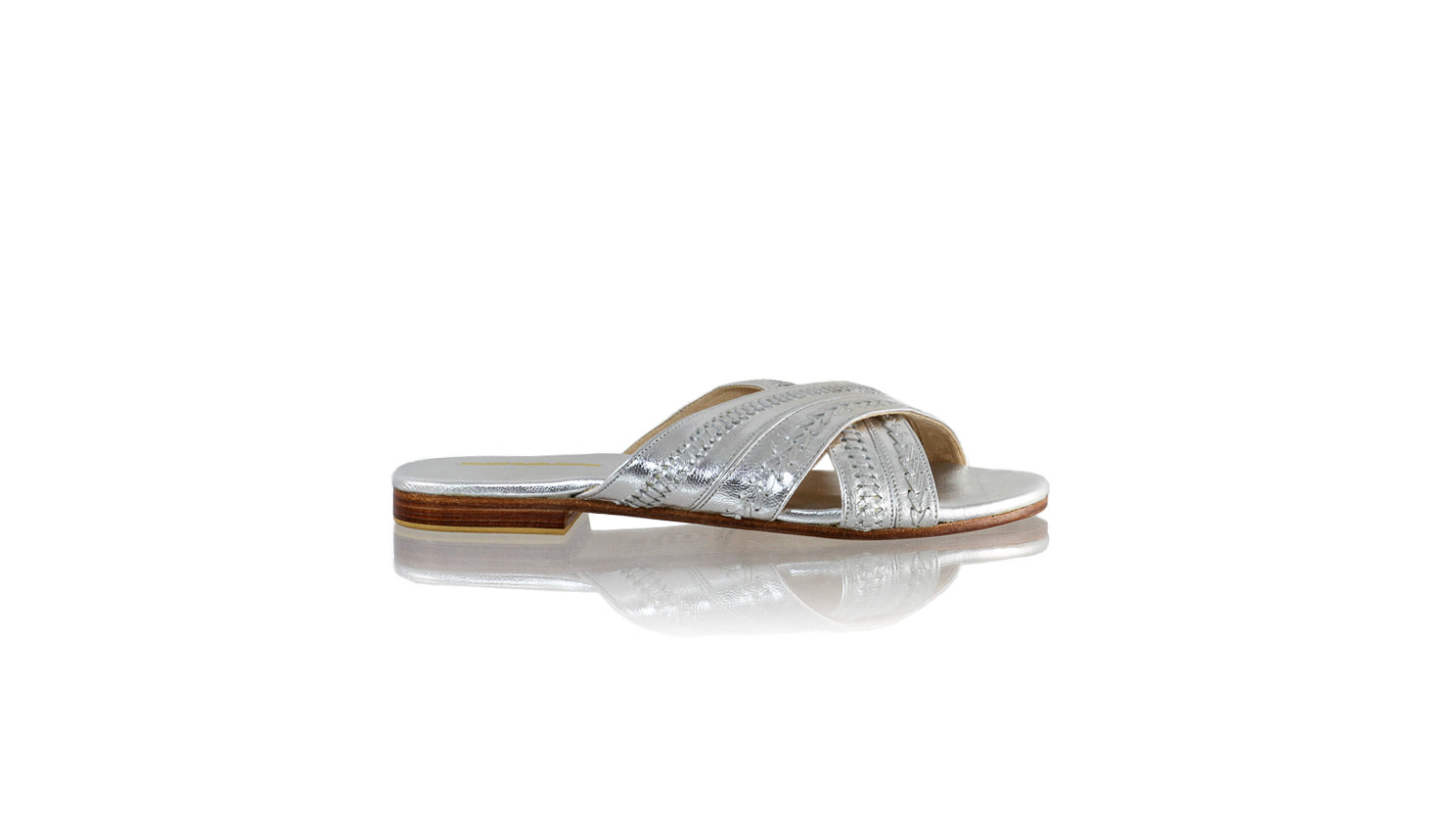 Leather-shoes-Paramita 20mm Flat - Silver-sandals flat-NILUH DJELANTIK-NILUH DJELANTIK