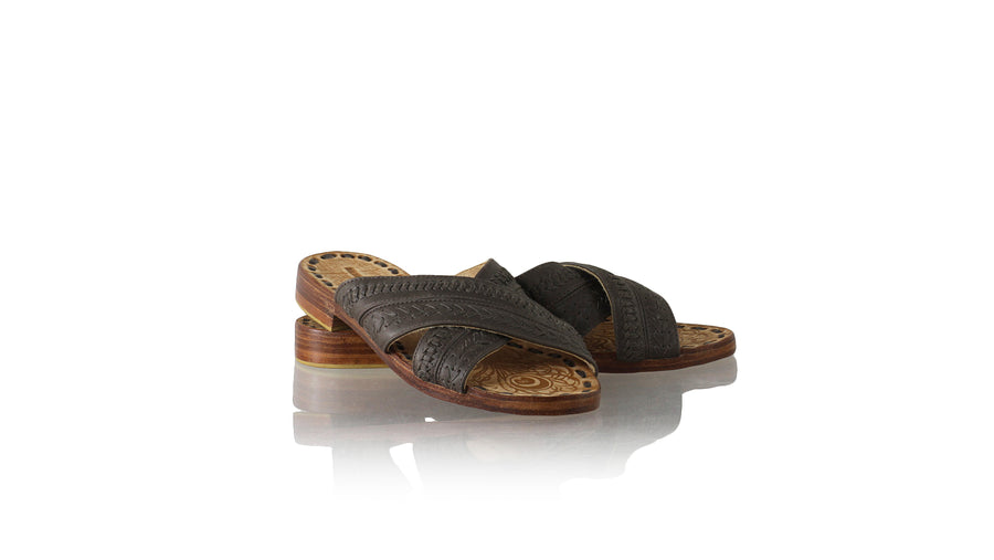 Leather-shoes-Paramita 20mm Flat - Very Dark Brown-sandals flat-NILUH DJELANTIK-NILUH DJELANTIK